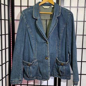 St. John's Bay Denim Blazer Size XL